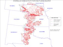 Nebraska Map Digital Map Of Hydraulic Conductivity For The High Plains Aquifer