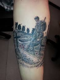 war sleeve memorial soldier remembrance forearm silhouette
