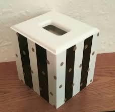 Tissue Holder Black And White Tissue Box Cover Striped Tissue Holder