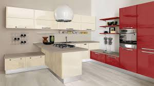 contemporary kitchen laminate island high gloss doris