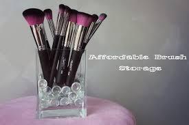 australian beauty review affordable brush storage idea