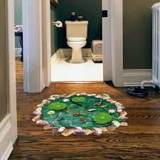 home decor drop shipping aliexpress com buy 3d green fish ponds lotus mural floor ground