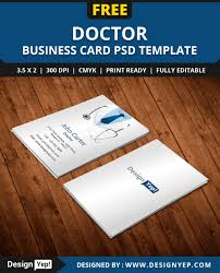 Best Visiting Card Designs Psd Free Doctor Business Card Template Psd Free Business Card