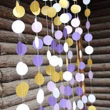 purple wedding paper garland gold wedding decoration home decor