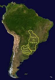 parana river map paraná basin