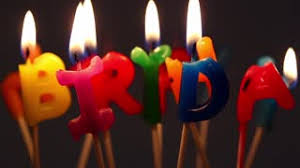 happy birthday candles happy birthday candles on a wooden background stock footage