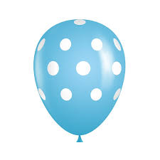 polka dot balloons light blue polka dot balloons bag of 50