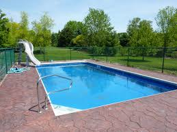 rectangular pool landscaping ideas backyard also with trends