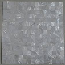 groutless kitchen backsplash 11pcs groutless white square of pearl shell