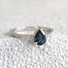 silver topaz rings images Sterling silver teardrop london blue topaz ring by mia belle jpg