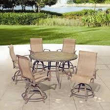 Outdoor Furniture Balcony by Backyard Creations 6 Piece Avondale Balcony Dining Collection At