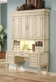 Antique White Desk With Hutch Furniture Vicenza Desk W Hutch In Antique White Finish