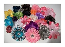 flowers for headbands 50 silk flowers mixed lot daisies lilies peonies roses