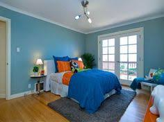 Blue Bedroom Feature Wall In Soft Blue  With Neutral On Other - Blue color bedroom ideas