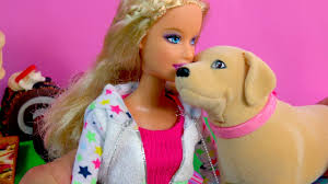 human barbie doll family barbie doll u0026 dog tanner eats treats plays playset with scooper