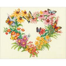 wildflower wreath counted cross stitch kit 70 35336 26 99