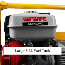 gensafe gs4kvawc wk 4kva 9hp honda powered petrol generator with