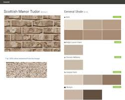 scottish manor tudor brown brick general shale behr ralph
