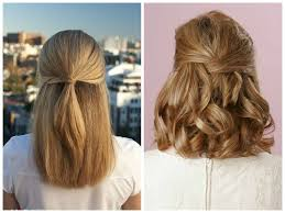 prom hairstyles for short hair half up half down cute half up half