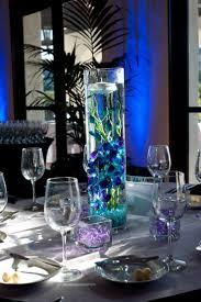 blue wedding candle centerpiece ideas ipunya
