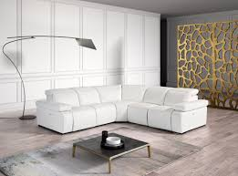 White Italian Leather Sectional Sofa Estro Salotti Hyding Modern White Italian Leather Sectional Sofa