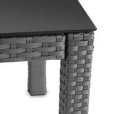 ventouse pour table basse en verre miadomodo table basse gris en résine tressée plateau en