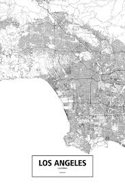 Map Los Angeles Ca by Los Angeles California Black On White By Rougeux On Deviantart