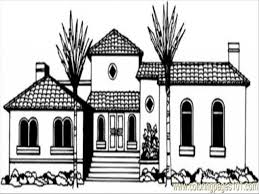 modest coloring pages houses 34 7952