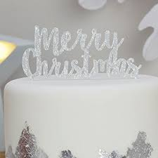 White Christmas Cake Ideas by Christmas Cake Toppers Amazon Co Uk
