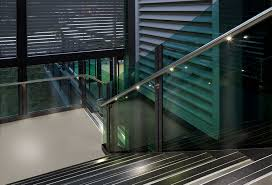 metal railing with bars indoor for stairs q lights q