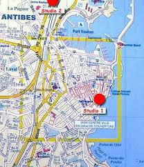 map of antibes south of studio appartment rental in antibes