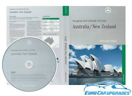 2010 mercedes map dvd cl cls e s sl slk ntg 1 australia nz maps