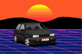 pixel car png volkswagen golf mk3 retrowave by buzanoff on deviantart