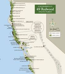Map Of The Coast Of California Map Of The Redwoods In California California Map