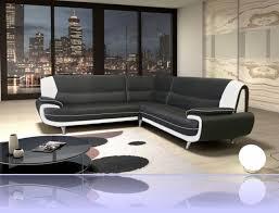 canapé d angle en simili cuir amanda canapé d angle similicuir noir blanc 2a2 degriffmeubles