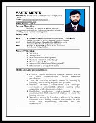 Resume Format For Mba Marketing Fresher Format Ideal Resume Format