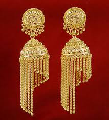 new jhumka earrings new traditional goldplated indian women wedding jhumka