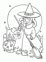 cute witch coloring pages kids halloween printables