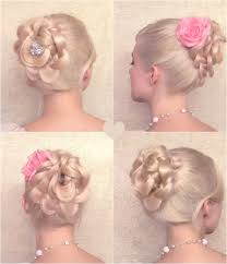 flower hair bun wonderful diy braided bun hairstyle with clip