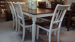 wood rectangular dining table ashley whitesburg rectangular dining table set review youtube