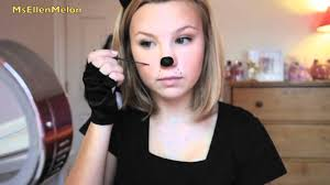 last minute halloween cat costume u0026 makeup youtube