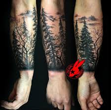 image result for tree arm yellow forest tatoo