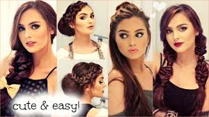 hairstyles for no chin cute easy no heat hairstyles for fall 2015 youtube