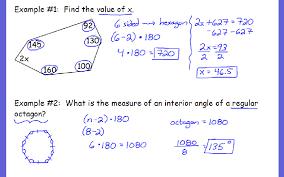 Interior Angles Of Polygon Interior Angle Measures Of Polygons Ivy Hills Academy