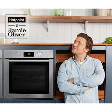 Jamie Oliver Kitchen Appliances - sa4544hix ss hotpoint built in single oven ao com