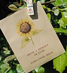 in memory of gifts personalised rustic seed packet memorial gift containing sunflower seeds and