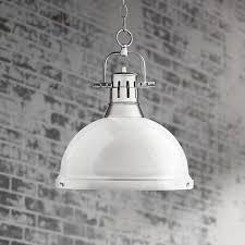 White Ceiling Pendant Light Duncan Chrome 14 Wide Contemporary White Pendant Light 7k316