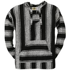 amazon black friday disappointing amazon com black stripe woven baja hoodie clothing