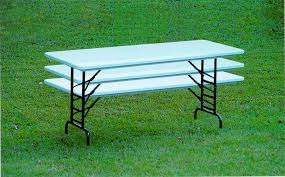 plastic folding tables adjustable height commercial grade plastic resin blow molded 30 x96 adjustable height