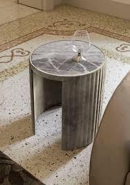 contemporary side table walnut ebony glass sun y 713 by